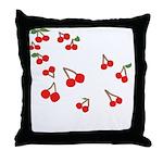 Cherry Rain Throw Pillow