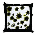 Funky Sunflowers Throw Pillow