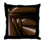 Brown Chocolate Boom Throw Pillow