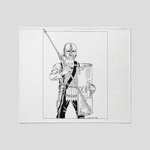 Roman Legionary, c400 AD Throw Blanket