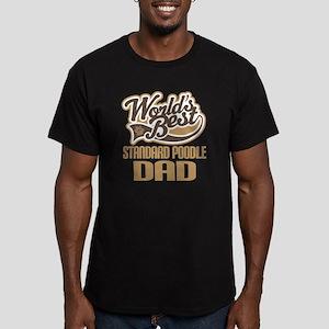 Standard Poodle Dad Men's Fitted T-Shirt (dark)