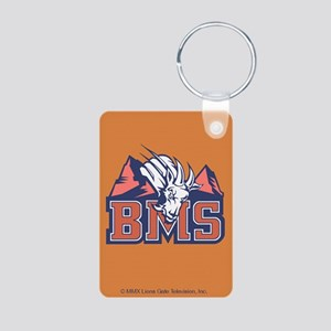 bms-distressed_10x10 Aluminum Photo Keychain