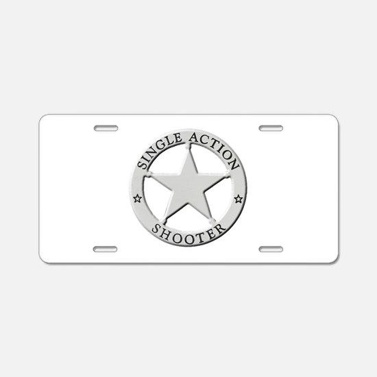 Single Action Shooter Aluminum License Plate