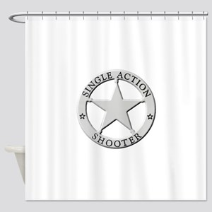 Single Action Shooter Shower Curtain