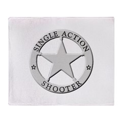 Single Action Shooter Throw Blanket