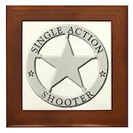Single Action Shooter Framed Tile