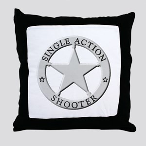 Single Action Shooter Throw Pillow