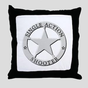 Single Action Shooter Throw Pillow