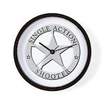 Single Action Shooter Wall Clock