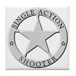 Single Action Shooter Tile Coaster