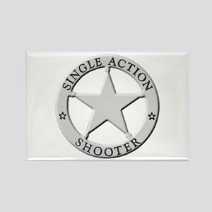 Single Action Shooter Rectangle Magnet
