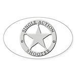 Single Action Shooter Sticker (Oval 50 pk)