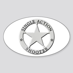 Single Action Shooter Sticker (Oval)