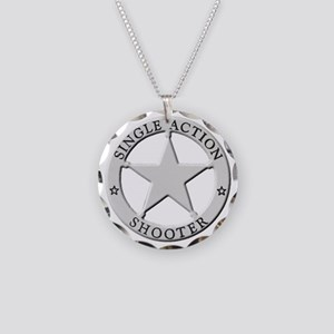 Single Action Shooter Necklace Circle Charm