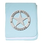 Single Action Shooter baby blanket