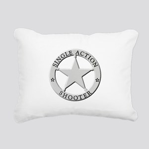 Single Action Shooter Rectangular Canvas Pillow