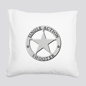 Single Action Shooter Square Canvas Pillow