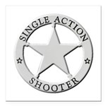 Single Action Shooter Square Car Magnet 3