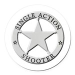 Single Action Shooter Round Car Magnet