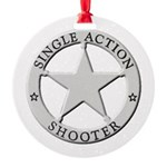 Single Action Shooter Round Ornament