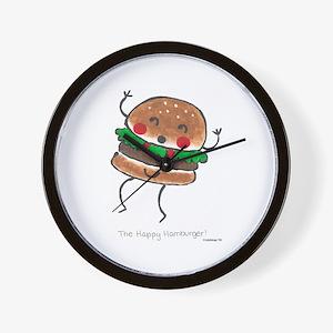 Happy Hamburger Wall Clock