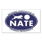 NATE logo Sticker (Rectangle 50 pk)