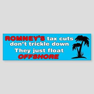 Romney's Tax Cuts Don't Trickle Down Sticker (Bump
