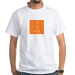 Love Or Shut Up, Orange White T-Shirt