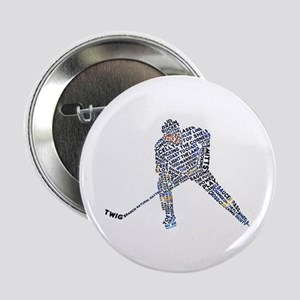 "Hockey Player Typography 2.25"" Button"