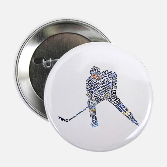 """Hockey Player Typography 2.25"""" Button"""