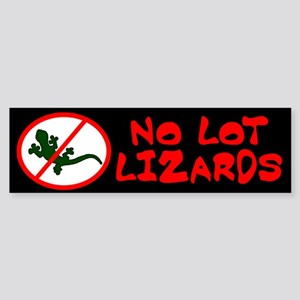 No Lot Lizards Bumper Sticker