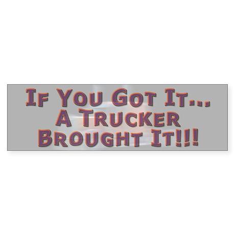 If You Got It Bumper Sticker 2