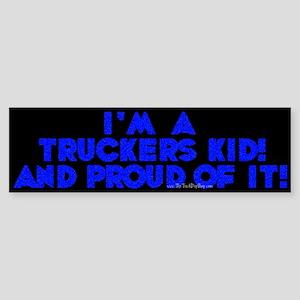 A Trucker's Kid Bumper Sticker