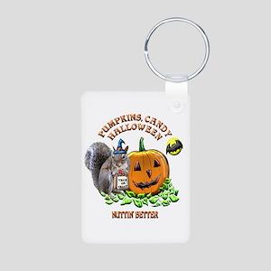 Halloween Squirrel Aluminum Photo Keychain