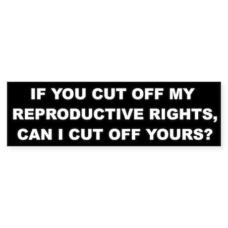 Reproductive Rights Sticker (Bumper)