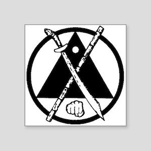 "Black Kenpo-Arnis Square Sticker 3"" x 3"""