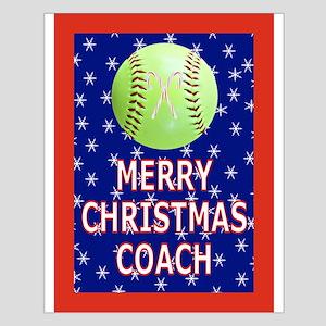 Merry Christmas Greeting Card for Softball Coach S