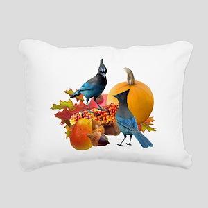Jays Harvest Rectangular Canvas Pillow