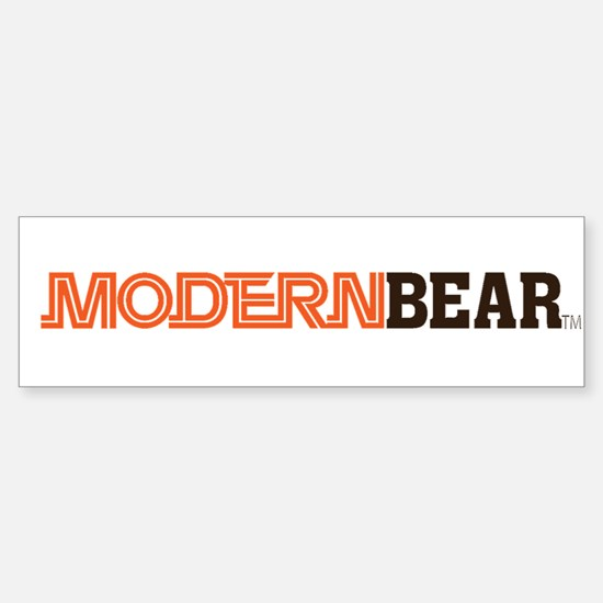 Modern Bear Bumper Sticker!