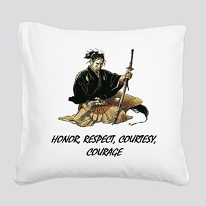 Samurai Square Canvas Pillow
