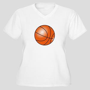 Basketball Women's Plus Size V-Neck T-Shirt