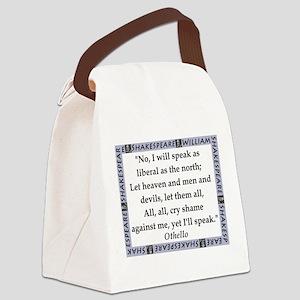 No, I Will Speak Canvas Lunch Bag