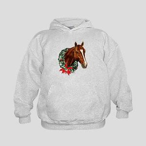 Horse and Wreath Kids Hoodie