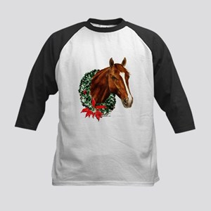 Horse and Wreath Kids Baseball Jersey