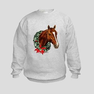 Horse and Wreath Kids Sweatshirt
