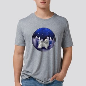 havanese snow globe lighten Mens Tri-blend T-Shirt