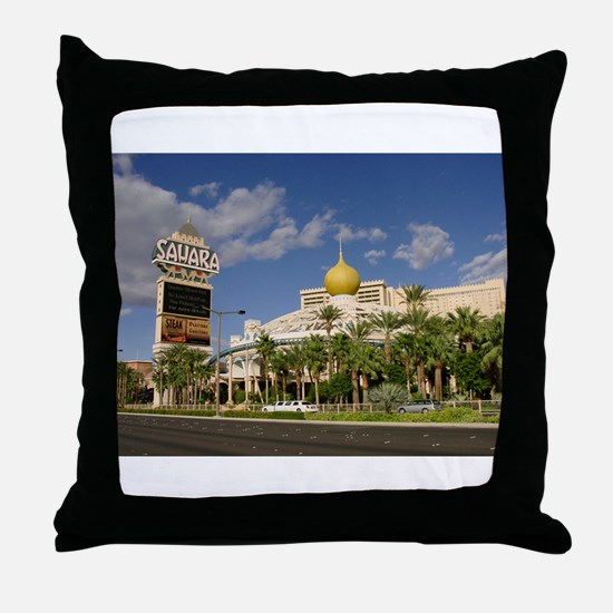 Sahara Hotel Las Vegas Throw Pillow