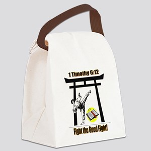 Fight the Good Fight Canvas Lunch Bag