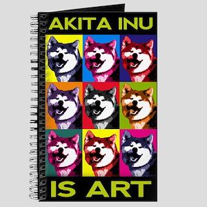 Quadernetto a spirale Akita Inu is Art