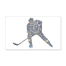Hockey Player Typography Decal Wall Sticker